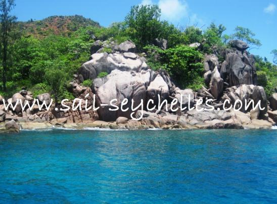 Sailing Yacht Charter Seychelles Coast of Curieuse island